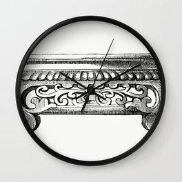Elegant Decorative Design (1862) from Gazette Des Beaux-Arts a French art review Wall Clock