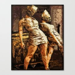Deadly Duo Silent Hill Nurses Canvas Print