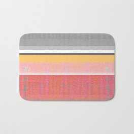 Sunshine in the Mind: Uplifting Happy Color Texture Study Abstract Bath Mat