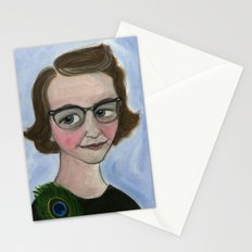 Flannery O'Connor Art Print, Literary Portrait (6x8)