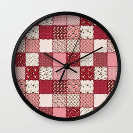 Rosey Vintage Patchwork Wall Clock