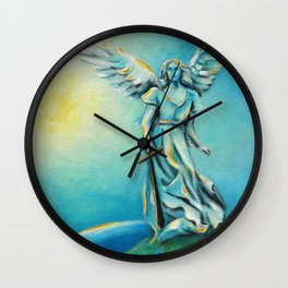 Archangel Michael - Hand painted Angel Art Wall Clock