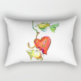 Fishing With Heart Rectangular Pillow