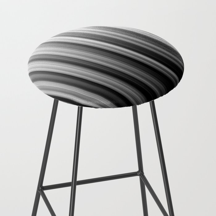 Black And White Soft Blurred Vertical Lines - Ombre Abstract Blurred Design Bar Stool