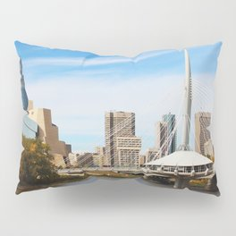Downtown Winnipeg 2 Picture Panorama Pillow Sham