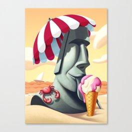 Moai ice-cream Canvas Print