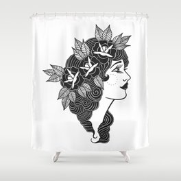 Pinup Profile Shower Curtain