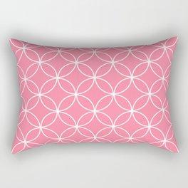Crossing Circles - Watermelon Rectangular Pillow