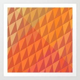 Square Pumpkin Crystals Art Print