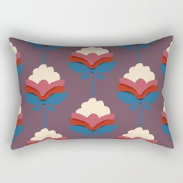Retro fall florals- n. 2 Rectangular Pillow