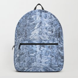 Winter forest in the Mountains Backpack