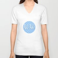 xoxo V-neck T-shirts featuring XOXO by Pati Designs