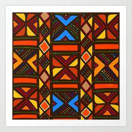 African Style No6, Sahara Desert Art Print