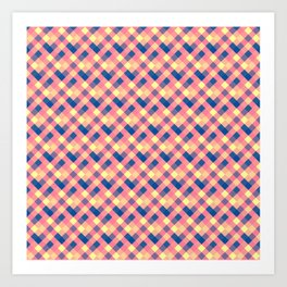 Squared abstraction Art Print