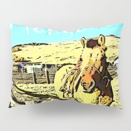 Mongolia Horse Treks (at Mountain Rubia) Pillow Sham