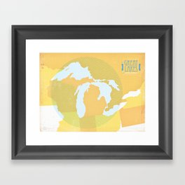 The GREAT LAKES of NORTH AMERICA Framed Art Print