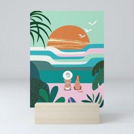 Sun Flock Mini Art Print