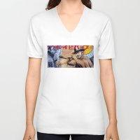 cowboy bebop V-neck T-shirts featuring Cowboy Bebop by Mark Matlock