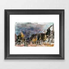 Dusk with Theresa Framed Art Print