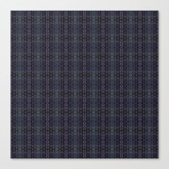 Backsplash Square Glass Spirals Canvas Print