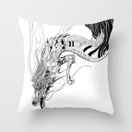 Falling dragon Throw Pillow