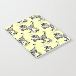 Tipsy Velociraptor with Beer Pattern Notebook