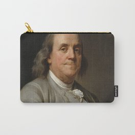 Benjamin Franklin Oil Painting Carry-All Pouch