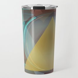 Modern colourful abstract with triangles Travel Mug