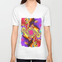tropical V-neck T-shirts featuring Tropical  by thea walstra