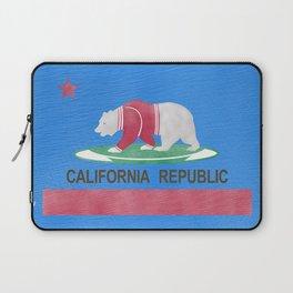 Polar Bear In California Laptop Sleeve