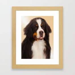Bernese Mountain Dog Framed Art Print