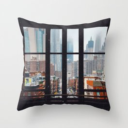 New York City Window Throw Pillow
