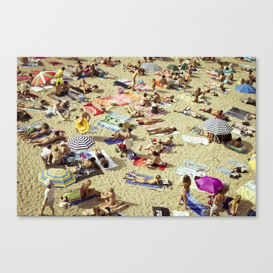 Beach pattern Canvas Print