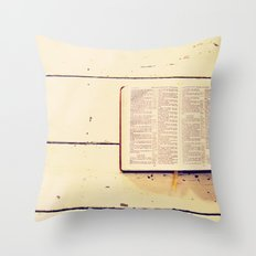 Reading the Psalms Throw Pillow