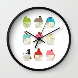 Cup-Cat Flavors Wall Clock