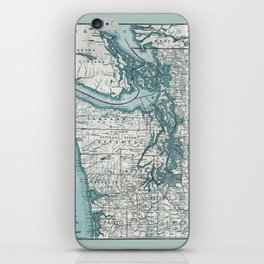 Puget Sound Map iPhone Skin