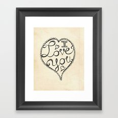 I Love You Sketch Framed Art Print