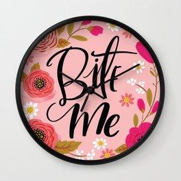 Pretty Not So Swe*ry: Bite Me Wall Clock
