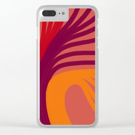 Triplets - Indian Red Clear iPhone Case