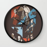 pain Wall Clocks featuring Pain by Florey