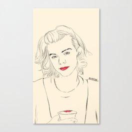 just a fingerprint of lipsticks Canvas Print