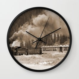 Steam Hauled Train - Engine 486 Wall Clock