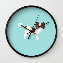 papillon farting dog cute funny dog gifts pure breed dogs Wall Clock