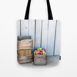 Apple Picking Tote Bags | Society6