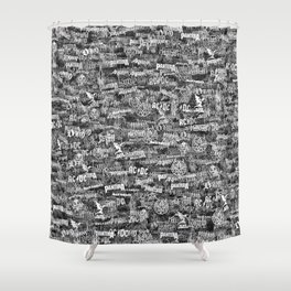 Heavy metal bands Shower Curtain