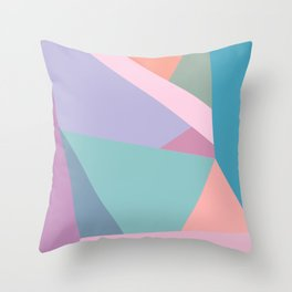 Fractured Triangles in Playful Color Throw Pillow