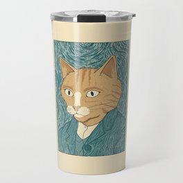 Cat Gogh Travel Mug