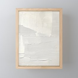 Relief [1]: an abstract, textured piece in white by Alyssa Hamilton Art Framed Mini Art Print