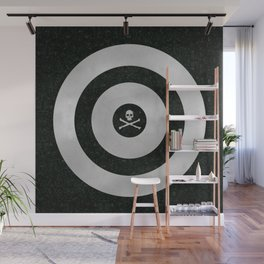 Silver Target Wall Mural