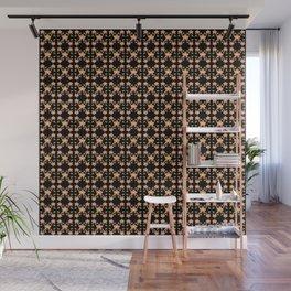 Magenta Peach Phalaenopsis Orchid Pattern Wall Mural
